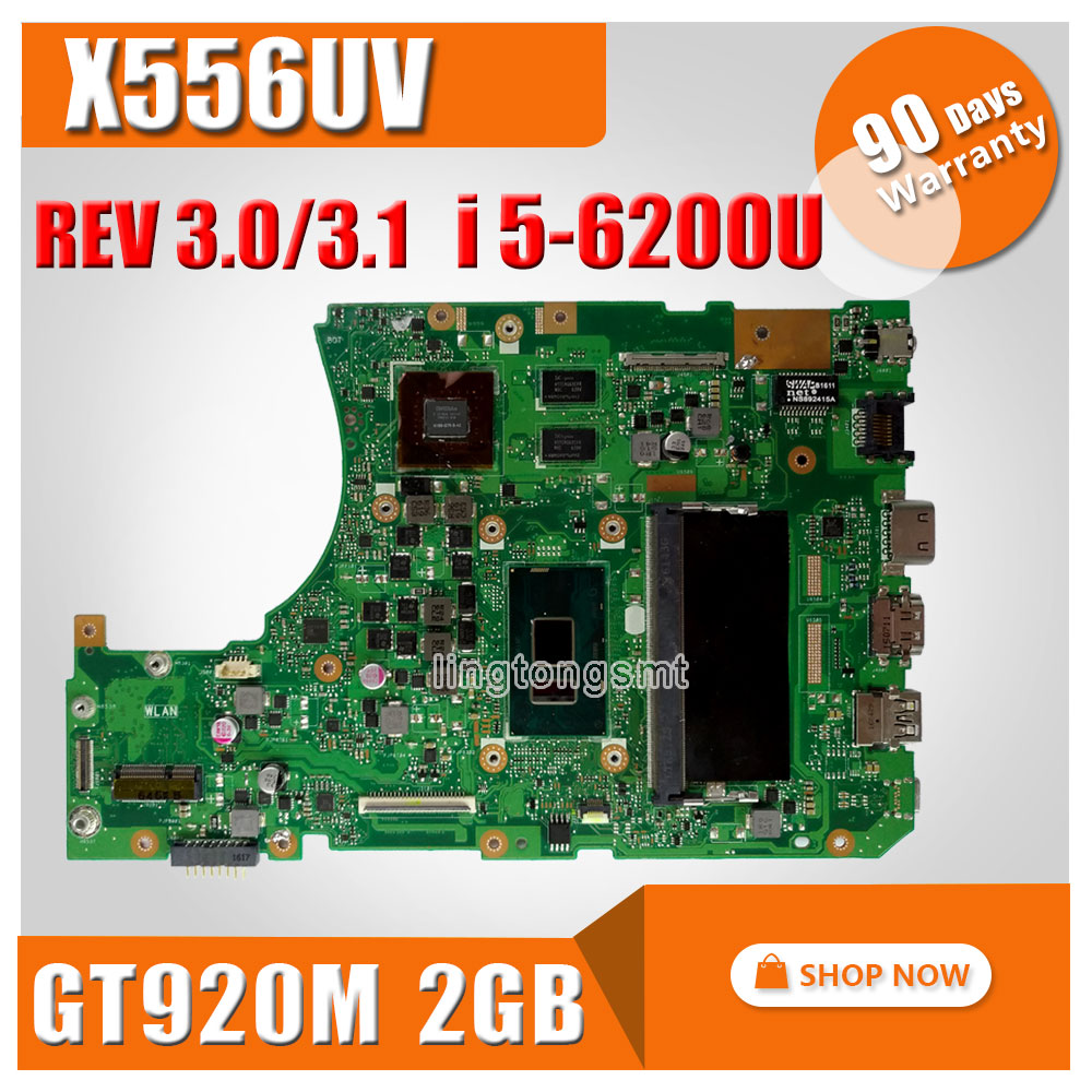 Asus X556UJ X556U X556UV X556UB X556UR X556UV REV: 3.1/3.0 Laptop Anakart CPU i5-6200U GeForce 920 M 2 GB test
